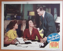 Doctor and the Girl, Original Lobby Card #3, Glenn Ford, Janet Leigh, '49